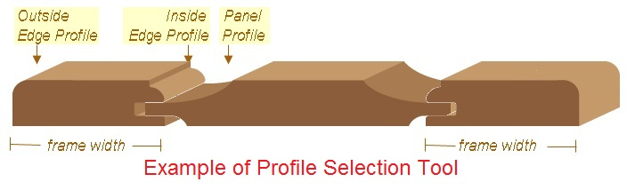 Example of Cabinet Door Profile Option Tool