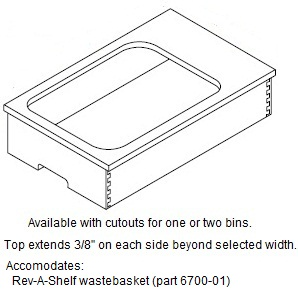 Cabinet Drawer Box: Trash Pull-out (Solid Beech with Beech Ply Top)