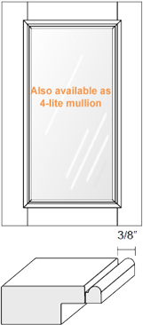 Cabinet Door: Appl Mldg w/ Glass (M1 Bead)