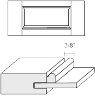 Cabinet Drawer Front: Appl Mldg Veneer Panel Drawer Front (M1 Bead)