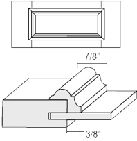 Cabinet Drawer Front: Appl Mldg Veneer Panel Drawer Front (M4 Bead)