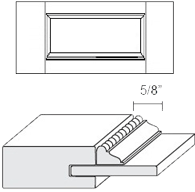 Cabinet Drawer Front: Appl Mldg Veneer Panel Drawer Front (M5 Bead)