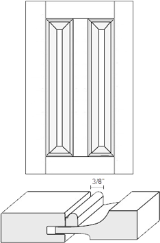 Cabinet Door: Appl Mldg Split Raised Panel (M1 Bead)