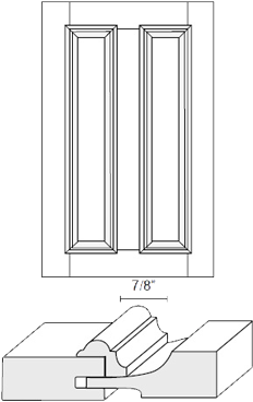 Cabinet Door: Appl Mldg Split Raised Panel (M4 Bead)