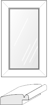 Cabinet Door: Mitered Glass Panel (903 Bead)