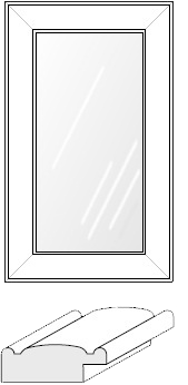 Cabinet Door: Mitered Glass Panel (930 Bead)
