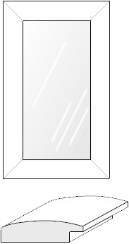 Cabinet Door: Mitered Glass Panel (934 Bead)