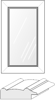 Cabinet Door: Mitered Glass Panel (936 Bead)
