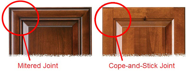 Mitered Cabinet Doors vs Cope and Stick Cabinet Doors