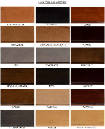 Superbe Maple Cabinet Door Colors. After Staining ...