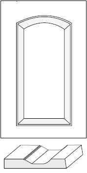 Horizon Cabinet Door Co: Fairview Roman Arch Raised Panel / MDF