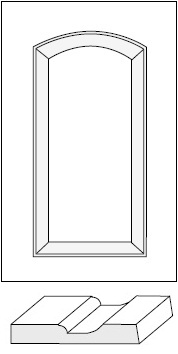 Horizon Cabinet Door Co: Seville Roman Arch Raised Panel / MDF