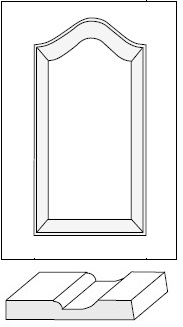 Horizon Cabinet Door Co: Seville Cathedral Arch Raised Panel / MDF