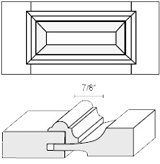 Cabinet Drawer Front: Appl Mldg Raised Panel Drawer Front (M4 Bead)