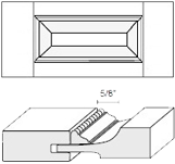 Cabinet Drawer Front: Appl Mldg Raised Panel Drawer Front (M5 Bead)