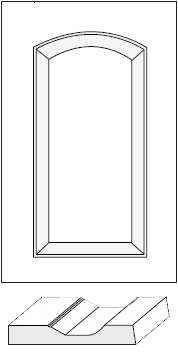 Cabinet Door: Fairview Roman Arch Raised Panel / MDF