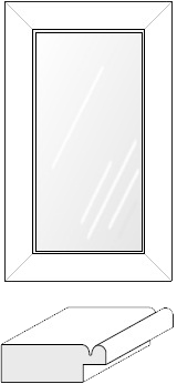 Cabinet Door: Mitered Glass Panel (900 Bead)