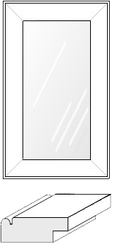 Cabinet Door: Mitered Glass Panel (915 Bead)