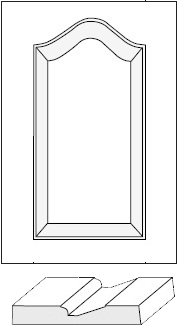 Cabinet Door: Provence Cathedral Arch Raised Panel / MDF